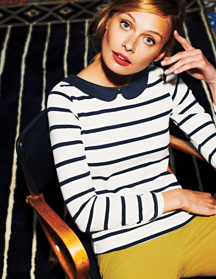 Collared Breton WL757 Long Sleeved Tops at Boden