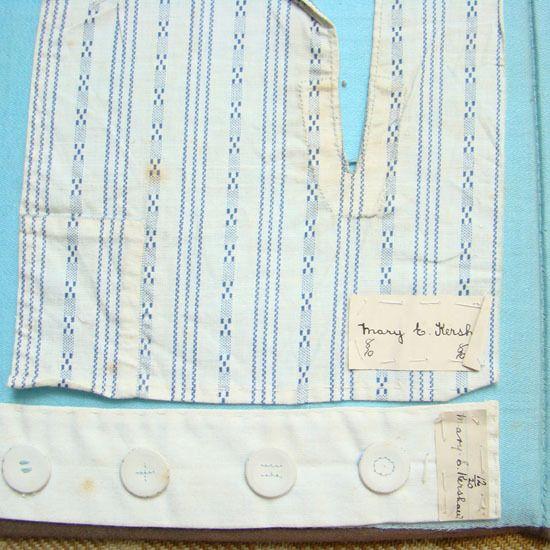 C1900 Mary E Kershaw Schoolgirl Needlework Sewing Hand Stitching from americanbeautydolls on Ruby Lane
