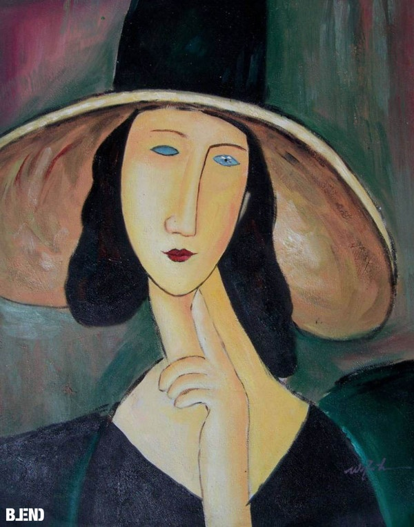 Amedeo #Modigliani, Jeanne Hébuterne with straw hat | Rene #Magritte, False Mirror #art #paintings #blend