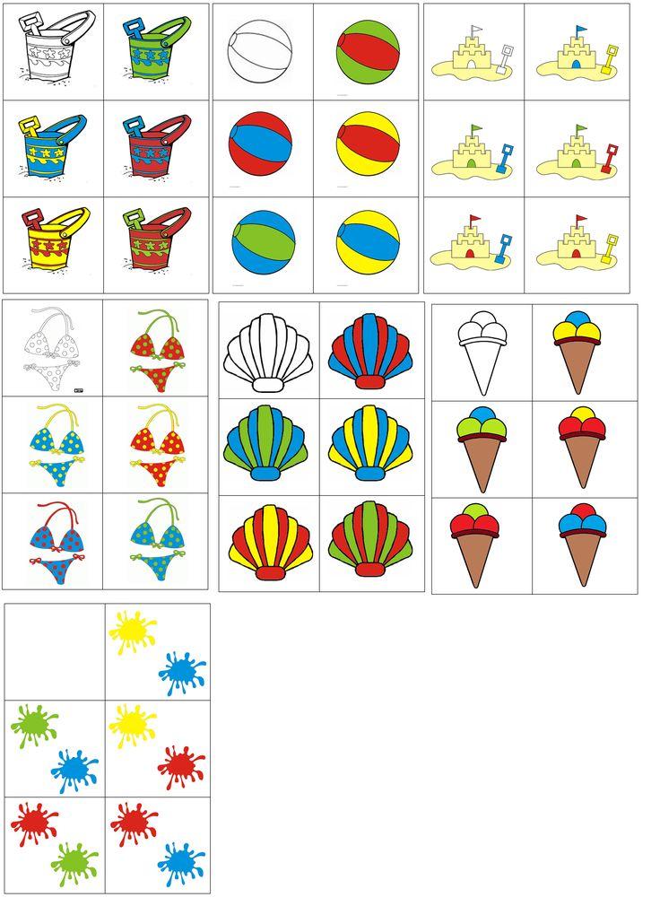 matrix zomer: combineer de figuren met de 2 kleuren