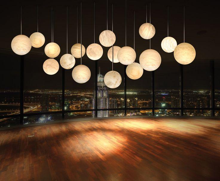 luna chandelier by architect work exhibitor atelier alain. Black Bedroom Furniture Sets. Home Design Ideas