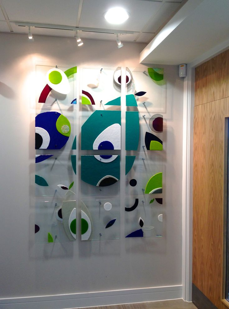 fused glass architectural wall panel