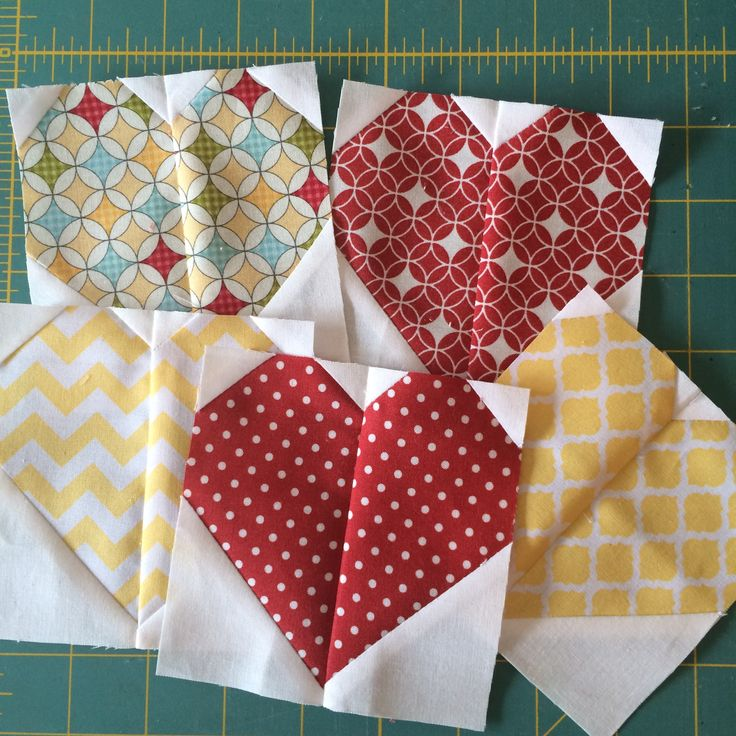 My patchwork hearts