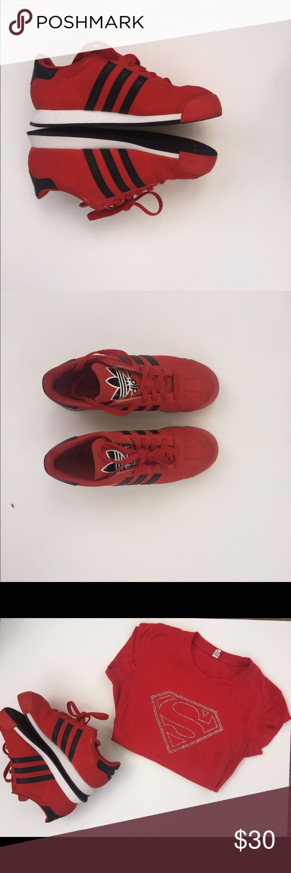 Adidas Somas. ADDIAS! In very good condition, one small scuff on the side. They run on men's size so they can fit a women's 8 and a men's 6 1/2. adidas Shoes Sneakers