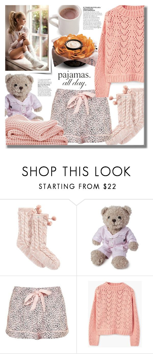 """""""#487 ~ PJs All Day: Lovely Loungewear"""" by cresentia-titi ❤ liked on Polyvore featuring UGG, Lexington, Topshop, MANGO, Sheridan, 22 and LovelyLoungewear"""