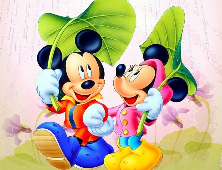 Miki And Mini Little Girl Mickey Mouse Cartoon Mickey