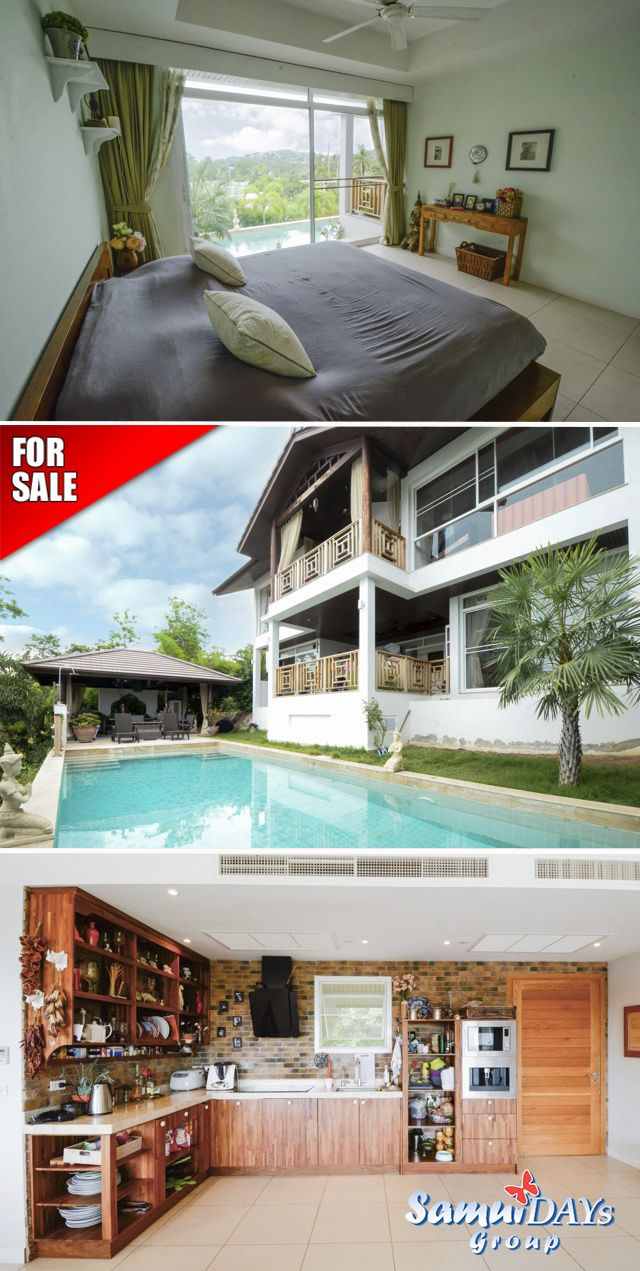 Threebedroom Pool Villa For Sale In Plai Leam, Koh Samui, Thailand It Is  Fully Furnished & Equipped For Permanent Residence On The Island