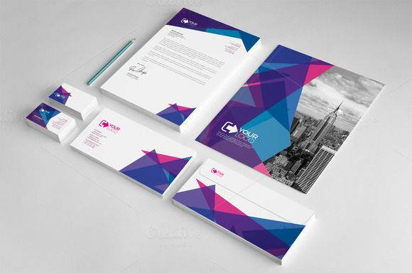 Corporate Stationery Template by Cristal Pioneer on Creative Market