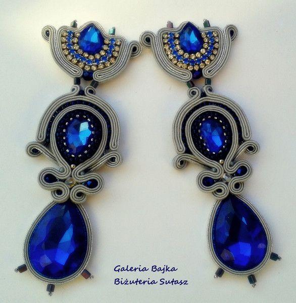 """Kolczyki sutasz (earrings soutache) """"Cléopâtre""""  w Galeria Bajka Soutache Jewelry na DaWanda.com"""
