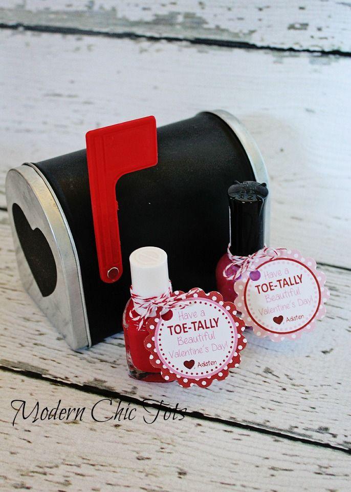 Nail Polish Valentine Printable-