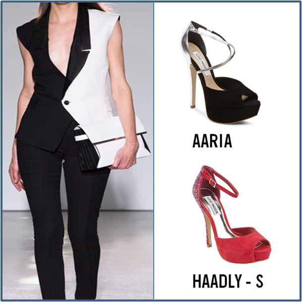 Which look will you go for with these Steve Madden hotties - Classy with  AARIA or