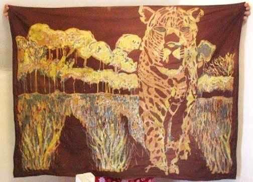 Most amazing batik design by Marjorie Sauer. Brilliant work!!   Rit DyeRit Dyes, Fantastic Batik, Marjorie Sauer, Batik Design, Amazing Batik, Silk Painting, Batik Animal, Crafty Ideas, Brilliant Work