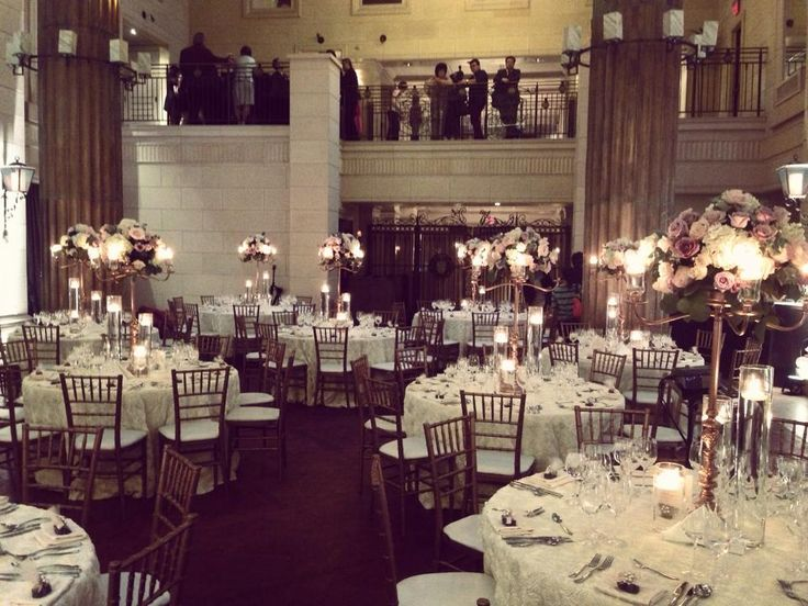 Reception set up - Windsor Arms Hotel, very elegant, romantic look http://www.fusion-events.ca/