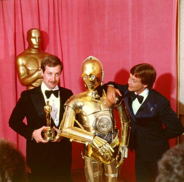 Ben Burtt, Anthony Daniels and Mark Hamill - 1978 Academy Awards