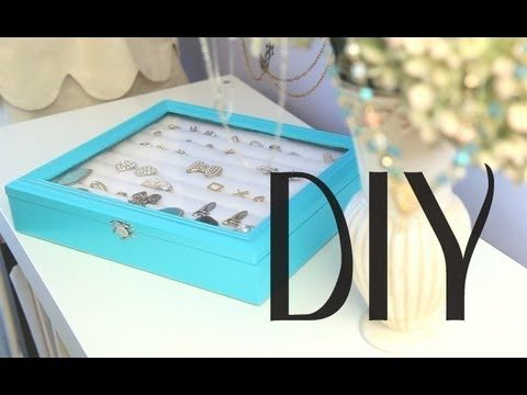 DIY Jewelry Display Box for Rings & Earrings {Tiffany & Co inspired Theme}