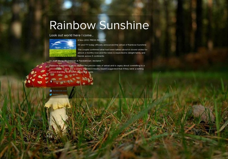 Rainbow Sunshine's page on about.me – http://about.me/rainbowsunshine