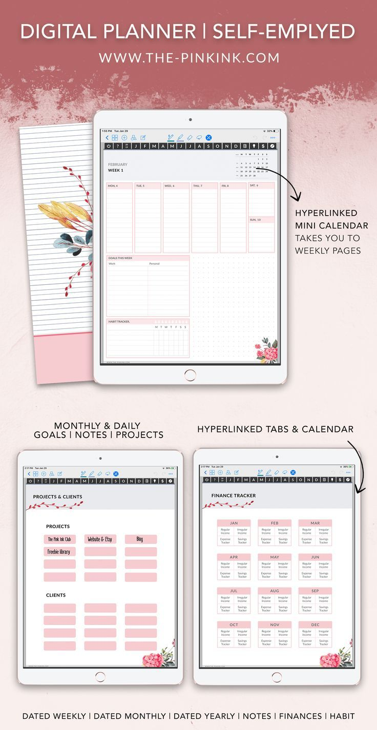 Weekly Planner Dated Planner Goodnotes Planner Planner Instant Download Ipad Pro Planner Ipad Planner Digital Planner Planner Organization Planner
