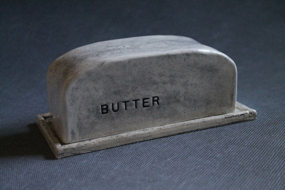 Handbuilt Ceramic Butter Dish by duckdrakestudio on Etsy, $40.00