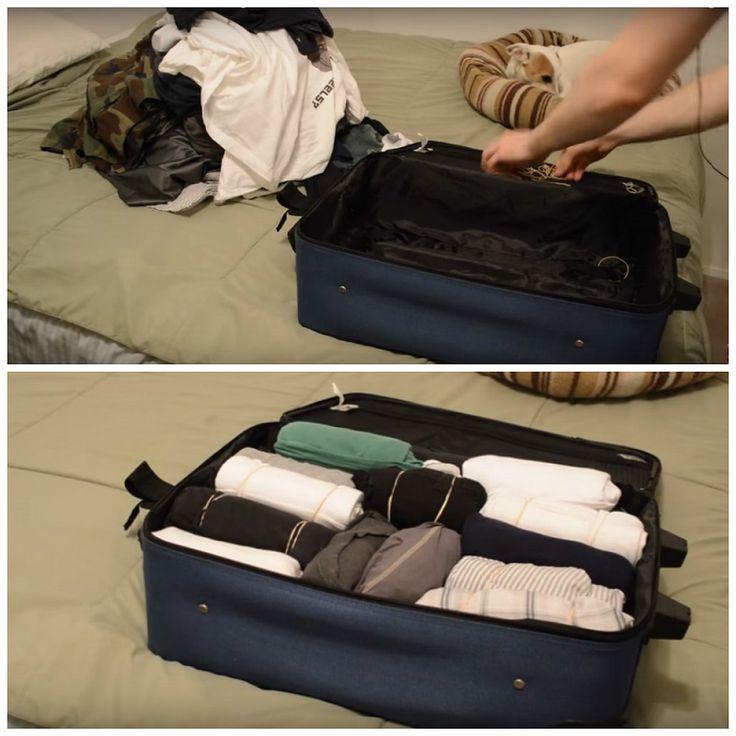 как упаковать чемодан компактно