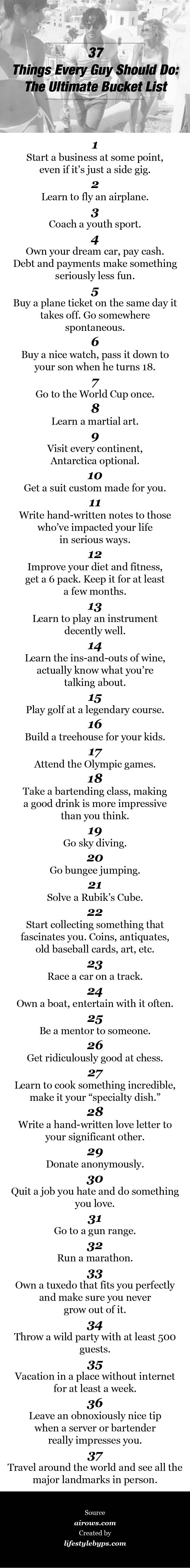 Best 25 moving out list ideas on pinterest moving out checklist 37 things every guy should do the ultimate bucket list ccuart Images