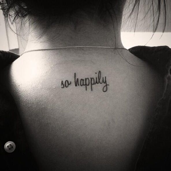 """""""so happily"""" one direction inspired  tattoo"""