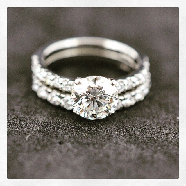 1.72 carat round brilliant cut diamond set in 4 claw Novo Style  F colour VS2 clarities & Castle Set Wedding Band F colour VS Clarities both set in platinum #diamonds #jewellery #engagement #engagementrings #Weddingband #weddingrings #Platinum #diamonds #PlatinumCork #cork #Ireland