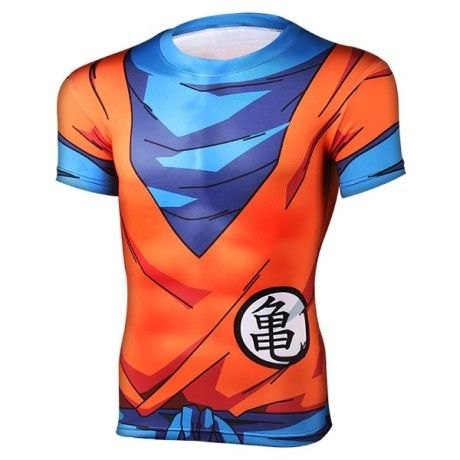 Close-Fitting Round Neck Short Sleeves Dragon Ball 3D Printed T-Shirt For Men