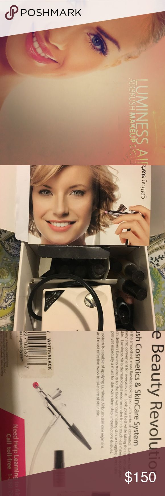 """Luminess Airbrush Cosmetic System BRAND NEW """"Luminous Air"""" airbrush makeup system. All make up accessories included  (see picture). Bought for daughter Christmas 2016, she Tried it out once and never used since!! Make best offer!! luminess Makeup Brushes & Tools"""