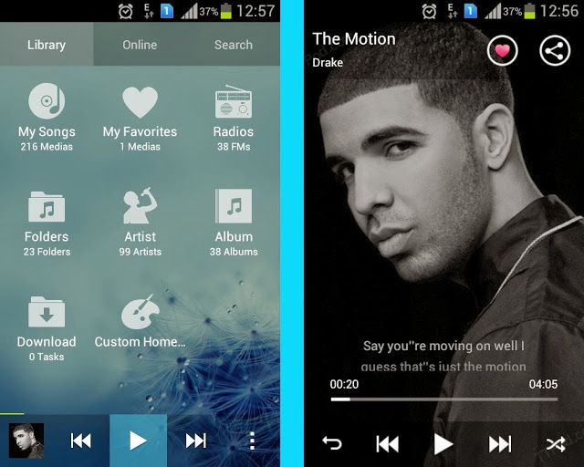 ttpod- The only music player with different album art handling.