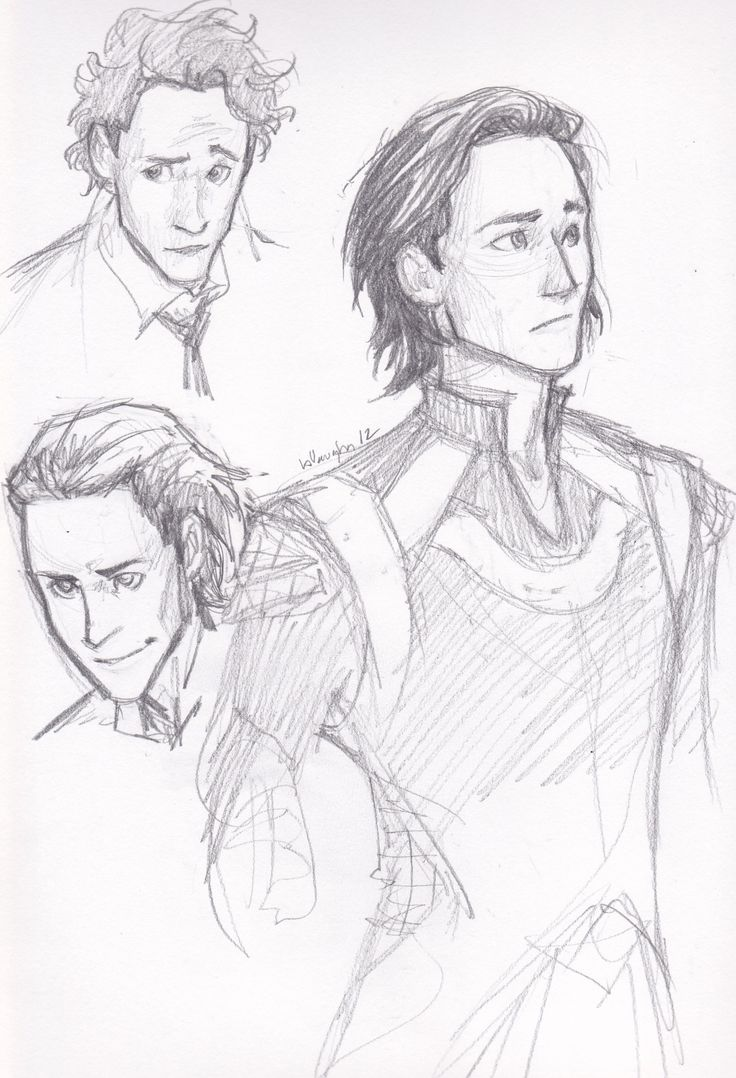 Tom/Loki Sketch.  nice drawing. i love this artist's work. Burdge bugggggg