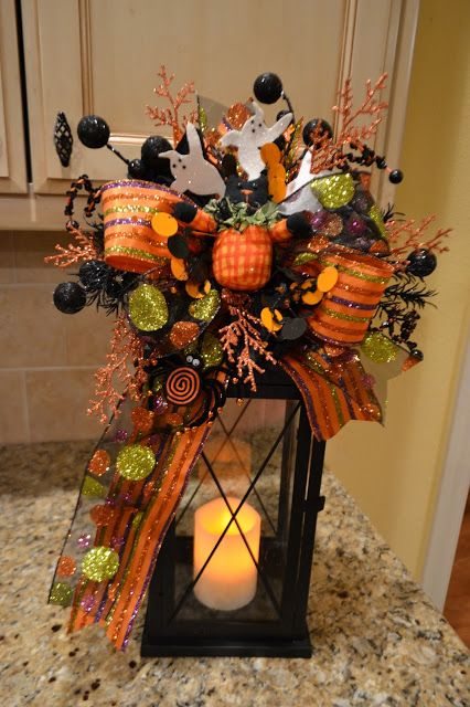 kristens creations halloween and fall lantern swags - Fall Halloween Decorations