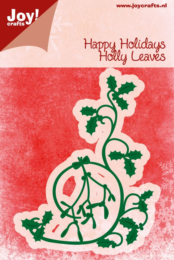 6002/2047 Noor! Design Holly Leaves 1 st.