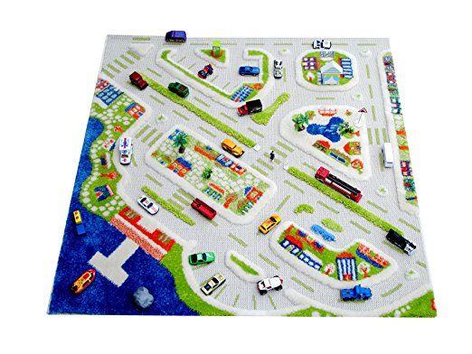 Little Helper MINICITY-100100-DE IVI Hypoallergener dicker 3D-Kinderspielteppich