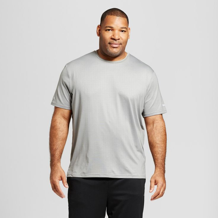 Men's Tall Run Shirt - C9 Champion Gray 2XLT, Size: Xxlt