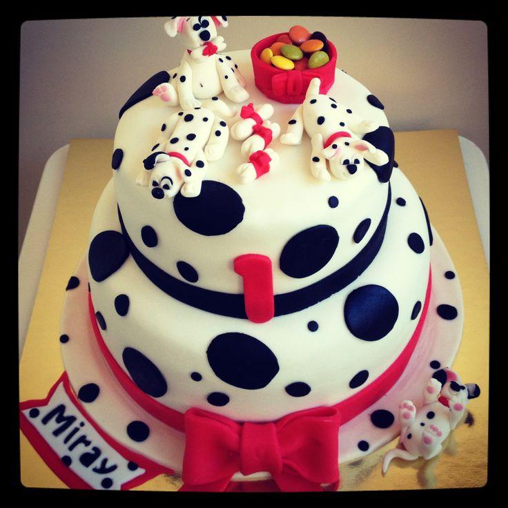 101 Dalmaçyalı Pasta - 101 dalmatians Birthday Cake