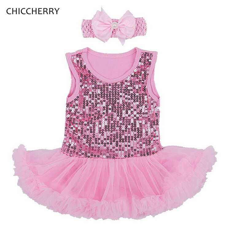 >> Click to Buy << Pink Sequins 1 Year Birthday Dress Infant Lace Tutu Headband Set Baby Girl Valentine Dresses Vestido Fiesta Bebe Toddler Outfits #Affiliate
