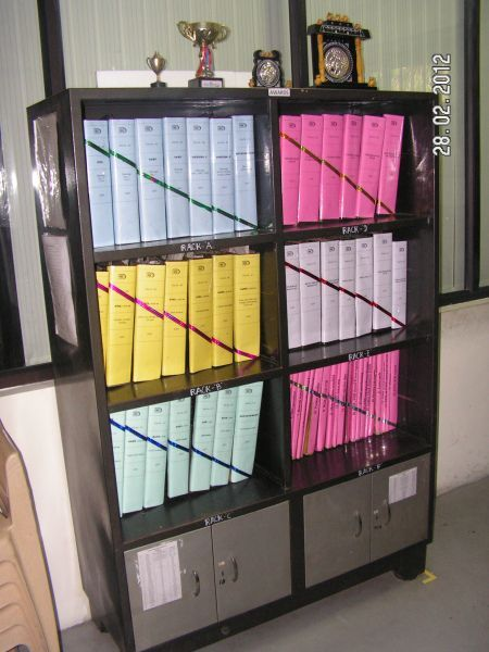 File storage with color code & poka yoke