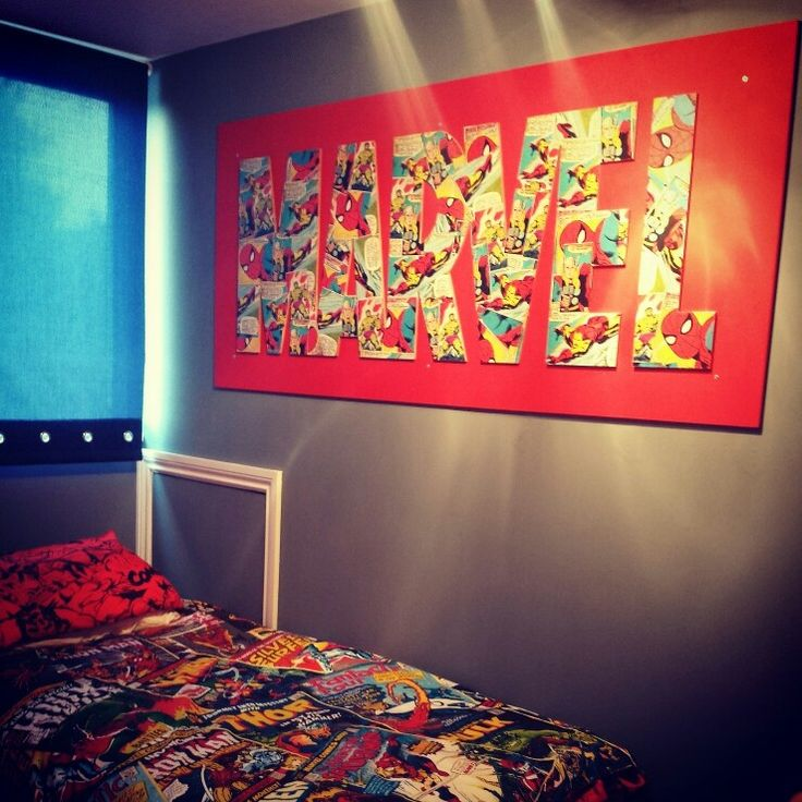 Love that marvel wall poster  Best 25 Marvel bedroom ideas on Pinterest Superhero room
