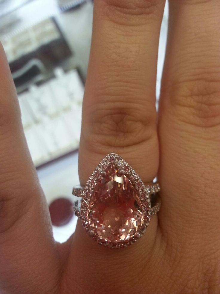 7 carat morganite engagement ring LOVE My future wedding Pinterest