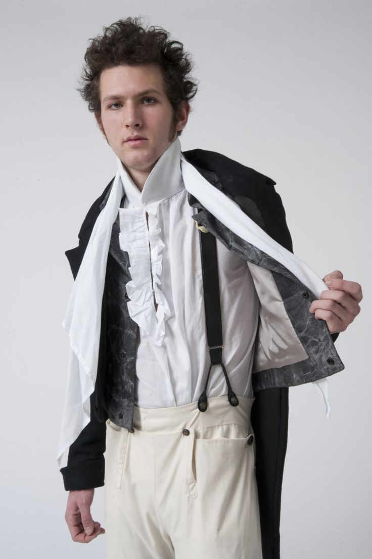 Regency Countryman's Costume:  England 1816 | 2009 | Wool, cotton, horsehair, leather, wax, screen printing ink, buttons | Garment by Andrea Creighton | Photo by Jim Prinz