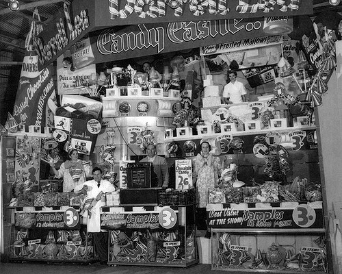 Darrell Lea stand at the Royal Melbourne Show, 1954 Victoria Australia