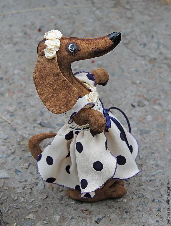 Купить Такса по имени Корица. - коричневый, ароматизированная игрушка, ароматизированная кукла, собака игрушка, таксы