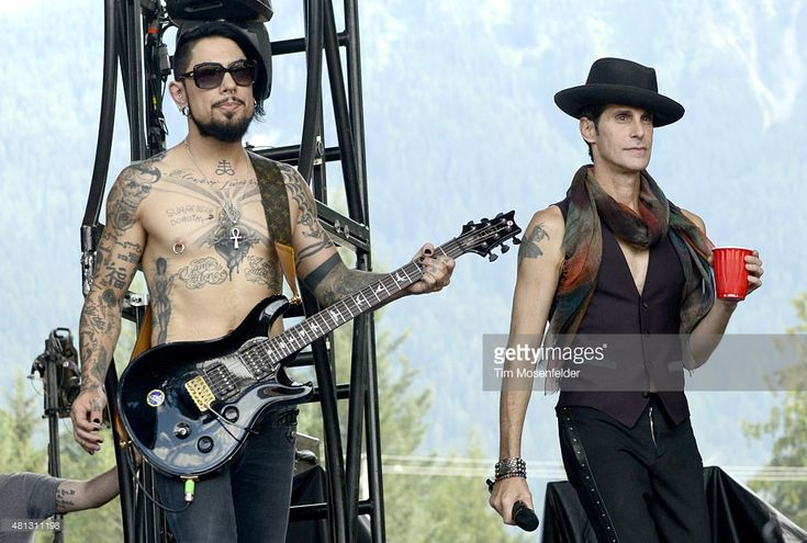 Dave Navarro (L) and Perry Farrell of Jane's Addiction perform during the Pemberton Music Festival on July 18, 2015 in Pemberton, Canada.