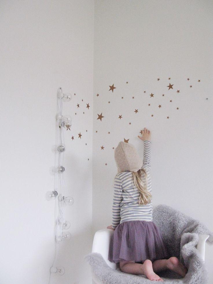 muurstickers sterren goud