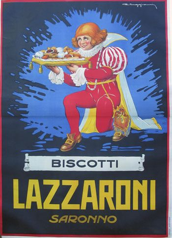#vintage #posters Biscotti Lazzaroni Saronno by #vintageposters