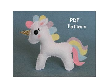Fox easy to sew felt PDF pattern Felt Hand by ForestFriendsShop
