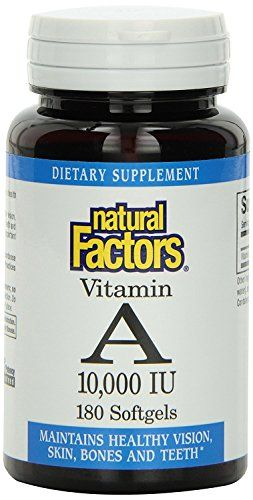 Natural Factors Vitamin A 10000 IU Softgels 180Count -- Continue to the product at the image link from Amazon.com