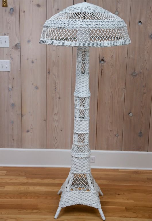 Antique Wicker Floor Lamp | From a unique collection of antique and modern floor lamps  at https://www.1stdibs.com/furniture/lighting/floor-lamps/