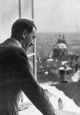 Adolf Hitler at Prague Castle