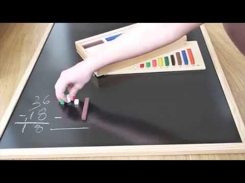 Restas llevando con Regletas de Cuisenaire - YouTube